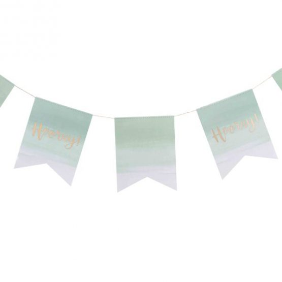 "Girlande ""Hooray"" Mint Ombre"
