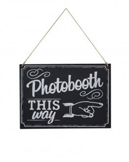 "Schild in Tafeloptik ""Photobooth"""