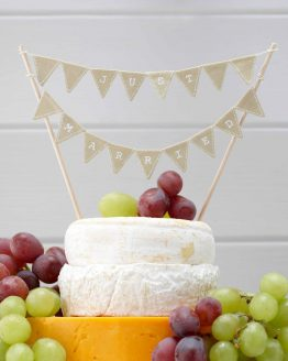"Caketopper Wimpelkette ""Just Married"" Jute"